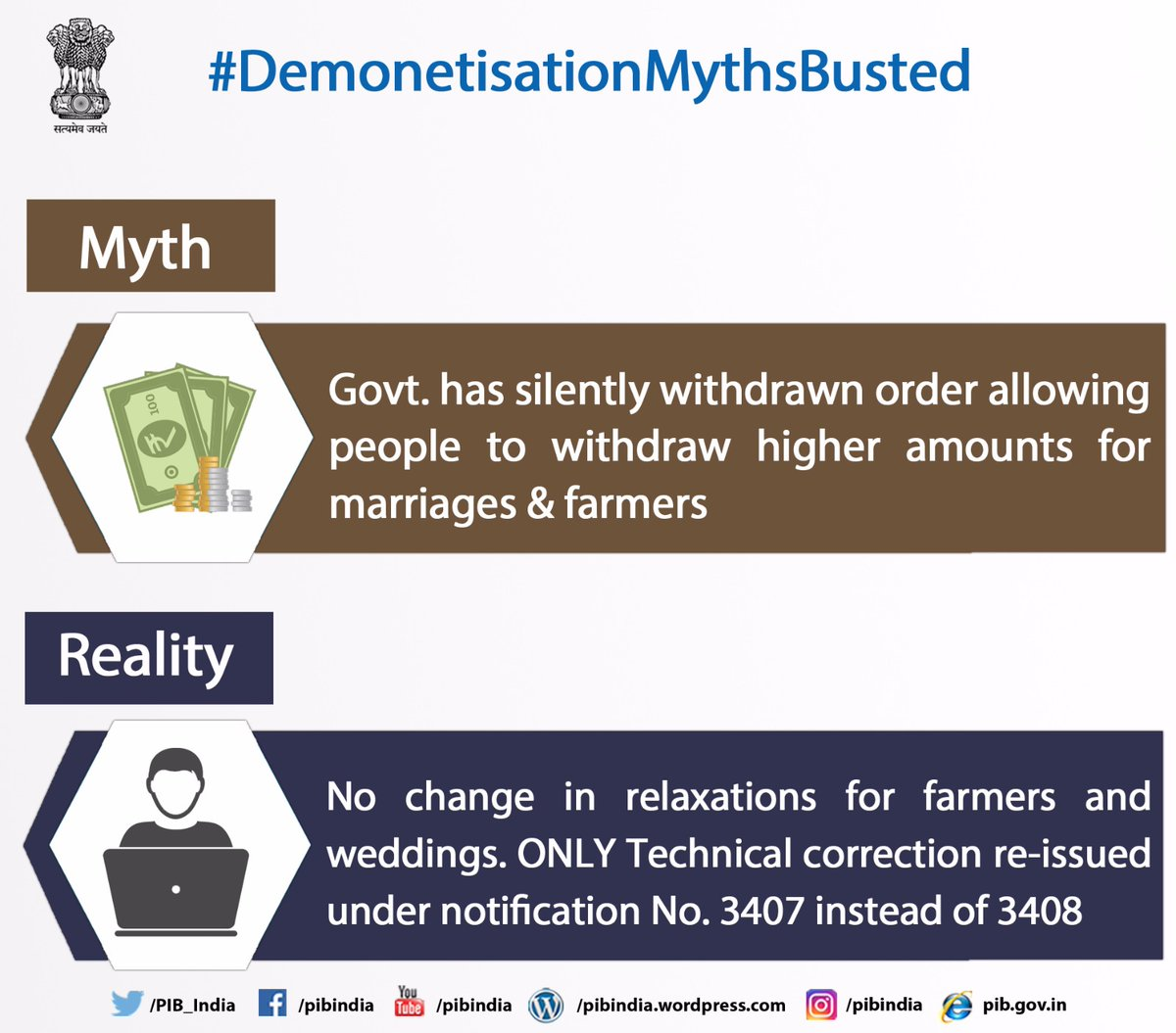 Demonetisation Myths Busted