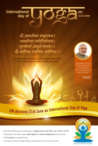 UN declares 21st June as International Day of Yoga