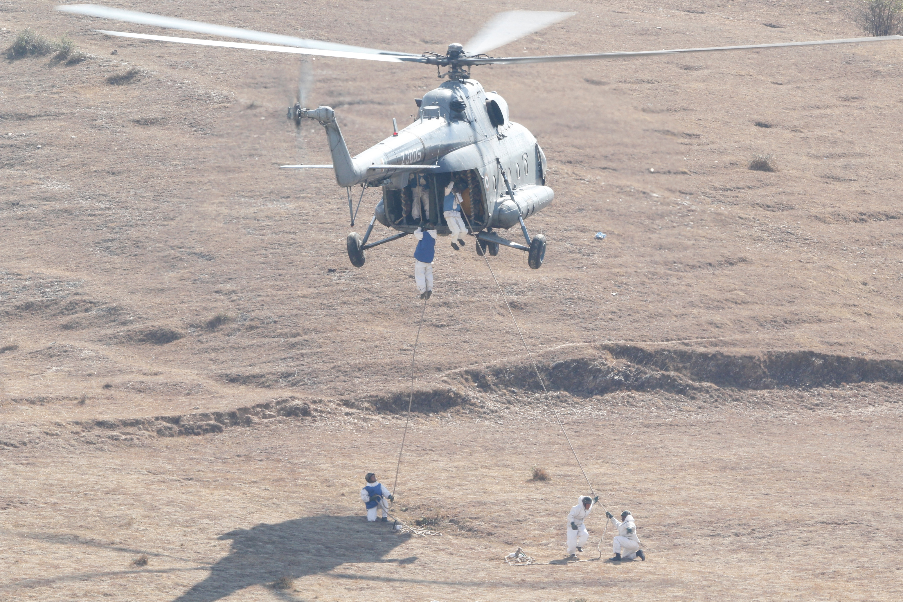 HELIDROP OF MEDICAL AID TROOPS DURING DISASTER MGMT TRAINING (3).JPG