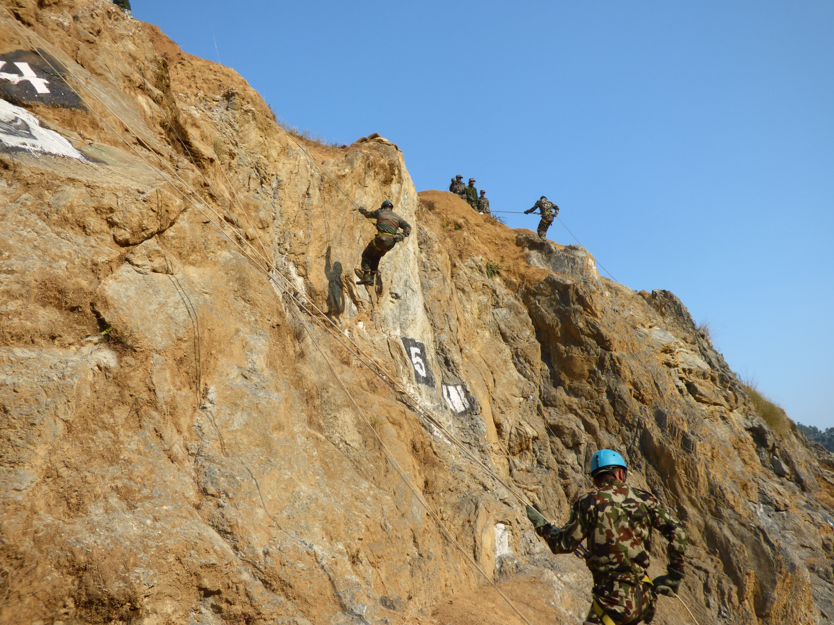 Rappelling Training by Indian & Nepalese Troops.JPG