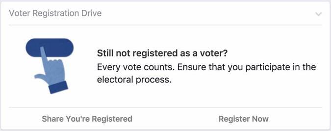 निर्वाचन आयोग की नई पहल -   मतदाता पंजीकरण स्मरण अभियान अब फेसबुक द्वारा