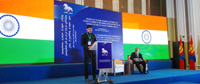 The Minister of State for Information & Broadcasting, Col. Rajyavardhan Singh Rathore addressing at the International Commemorative Conference dedicated to the 25th Anniversary of the First Democratic Election in Mongolia on July 29, 2015.