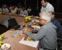 The Secretary, Department of Commerce, Shri Rajeev Kher launching the Central Server for Track & Trace Implementation, at a function, in New Delhi on June 29, 2015.