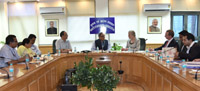A delegation of the US-India Council meeting the Secretary, Ministry of Information and Broadcasting, Shri Bimal Julka, in New Delhi on May 28, 2015.