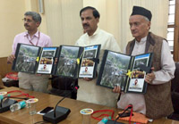The Minister of State for Culture (Independent Charge), Tourism (Independent Charge) and Civil Aviation, Dr. Mahesh Sharma at the launch of the mobile app. on ASI protected monuments of Uttarakhand and documentary on Jageshwar group of Temples, at Haldwani, in Uttarakhand on May 28, 2015.