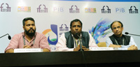The Director, DFF, Shri C. Senthil Rajan addressing a press conference, at the 46th International Film Festival of India (IFFI-2015), in Panaji, Goa on November 25, 2015.