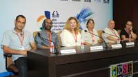The Directors, Yuval Delshad (Baba Joon), Zahidur Rahim Anjan, Slobodanka Radun and Diego Jimenez at 'Meet the Director' Press Conference, at the 46th International Film Festival of India (IFFI-2015), in Panaji, Goa on November 25, 2015.