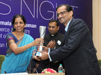The Minister of State for Commerce & Industry (Independent Charge), Smt. Nirmala Sitharaman gave away the EEPC India's 46th Annual Awards for Exports Excellence, at a function, in New Delhi on September 03, 2015.