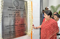 The Union Minister for Human Resource Development, Smt. Smriti Irani inaugurating the Lecture Hall Complex at the Indian Institute of Technology (IIT), in New Delhi on April 29, 2016.
