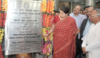 The Union Minister for Human Resource Development, Smt. Smriti Irani inaugurating the Unnat Bharat Abhiyan Cell at the Indian Institute of Technology (IIT), in New Delhi on April 29, 2016.