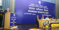 The Governor of Kerala and former Chief Justice of India, Mr. Justice P. Sathasivam addressing at the Human Rights Day function of the National Human Rights Commission (NHRC), in New Delhi on December 10, 2016.
