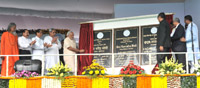The Prime Minister, Shri Narendra Modi unveiling the plaque to dedicate the National Institute of Science Education & Research (NISER) to the Nation, in Bhubaneswar, Odisha on February 07, 2016.
