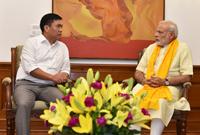 The Chief Minister of Arunachal Pradesh, Shri Pema Khandu calls on the Prime Minister, Shri Narendra Modi, in New Delhi on July 24, 2016.
