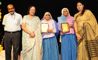 The Union Minister for Minority Affairs, Dr. Najma A. Heptulla at the Best Achievers Award Ceremony, organised by the Child Care & Welfare Foundation, in New Delhi on May 06, 2016.
