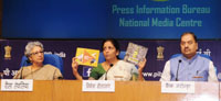 The Minister of State for Commerce & Industry (Independent Charge), Smt. Nirmala Sitharaman addressing the media on the achievements of the Ministry of Commerce during the last two years, in New Delhi on May 30, 2016.