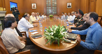 The Prime Minister, Shri Narendra Modi chairing the CCS meeting on the situation on LoC, in New Delhi on September 29, 2016.