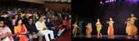 The Minister of State for Culture and Tourism (Independent Charge), Dr. Mahesh Sharma witnessing the 20th Edition of Parampara Series-2016 - National Festival of Music and Dance, in New Delhi on September 30, 2016.