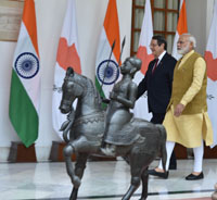 The Prime Minister, Shri Narendra Modi with the President of the Republic of Cyprus, Mr. Nicos Anastasiades, at Hyderabad House, in New Delhi on April 28, 2017.