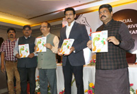 The Union Minister for Petroleum & Natural Gas and Skill Development & Entrepreneurship, Shri Dharmendra Pradhan and the Minister of State for Youth Affairs and Sports (I/C) and Information & Broadcasting, Col. Rajyavardhan Singh Rathore releasing a special issue of Odia daily Nirbhaya, at its annual function, in Bhubaneswar, Odisha on December 10, 2017.