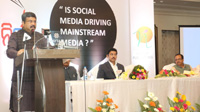 The Union Minister for Petroleum & Natural Gas and Skill Development & Entrepreneurship, Shri Dharmendra Pradhan addressing the gathering at the annual function of Odia daily Nirbhaya at Bhubaneswar, Odisha on December 10, 2017.  The Minister of State for Youth Affairs and Sports (I/C) and Information & Broadcasting, Col. Rajyavardhan Singh Rathore is also seen.