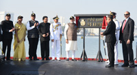 The Prime Minister, Shri Narendra Modi commissioning the Naval Submarine INS Kalvari into the Indian Navy, in Mumbai on December 14, 2017.