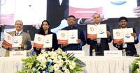 The Union Minister for Electronics & Information Technology and Law & Justice, Shri Ravi Shankar Prasad at the launch of the Cyber Swachhta Kendra (Botnet Cleaning and Malware Analysis Centre), in New Delhi on February 21, 2017. The Secretary, Ministry of Electronics & Information Technology, Ms. Aruna Sundararajan and other dignitaries are also seen.