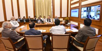 The Prime Minister, Shri Narendra Modi chairing seventeenth interaction through PRAGATI - the ICT-based, multi-modal platform for Pro-Active Governance and Timely Implementation, in New Delhi on February 22, 2017.
