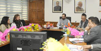 The Minister of State for Minority Affairs (Independent Charge) and Parliamentary Affairs, Shri Mukhtar Abbas Naqvi chairing the meeting of Committee on Hamari Dharohar Scheme, in New Delhi on February 25, 2017.