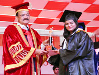 The Union Minister for Urban Development, Housing & Urban Poverty Alleviation and Information & Broadcasting, Shri M. Venkaiah Naidu at the convocation ceremony of the Galgotias University, at Greater Noida, Uttar Pradesh on January 24, 2017.
