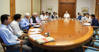 The Prime Minister, Shri Narendra Modi reviews progress of Ujwal DISCOM Assurance Yojana (UDAY) and Mineral Block auctions, in New Delhi on July 21, 2017.