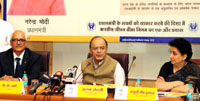 The Union Minister for Finance, Corporate Affairs and Defence, Shri Arun Jaitley addressing at the launch of the Pradhan Mantri Vaya Vandana Yojana (PMVVY), in New Delhi on July 21, 2017. 