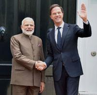 The Prime Minister, Shri Narendra Modi meeting the Prime Minister of Netherlands, Mr. Mark Rutte, at Amsterdam, Netherlands on June 27, 2017.