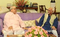 The Union Minister for Micro, Small and Medium Enterprises, Shri Kalraj Mishra calling on the Vice President, Shri M. Hamid Ansari, in New Delhi on June 27, 2017.