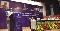 "The Minister of State for Social Justice & Empowerment, Shri Krishan Pal addressing at a programme on the occasion of the ""International Day against Drug Abuse & Illicit Trafficking"", organised by the Ministry of Social Justice & Empowerment, in New Delhi on June 28, 2017."