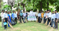 The DoPT personnel participating in a cleanliness drive in the premises of Ram Manohar Lohia Hospital, under the ongoing Swachhta Pakhwada, in New Delhi on June 28, 2017.