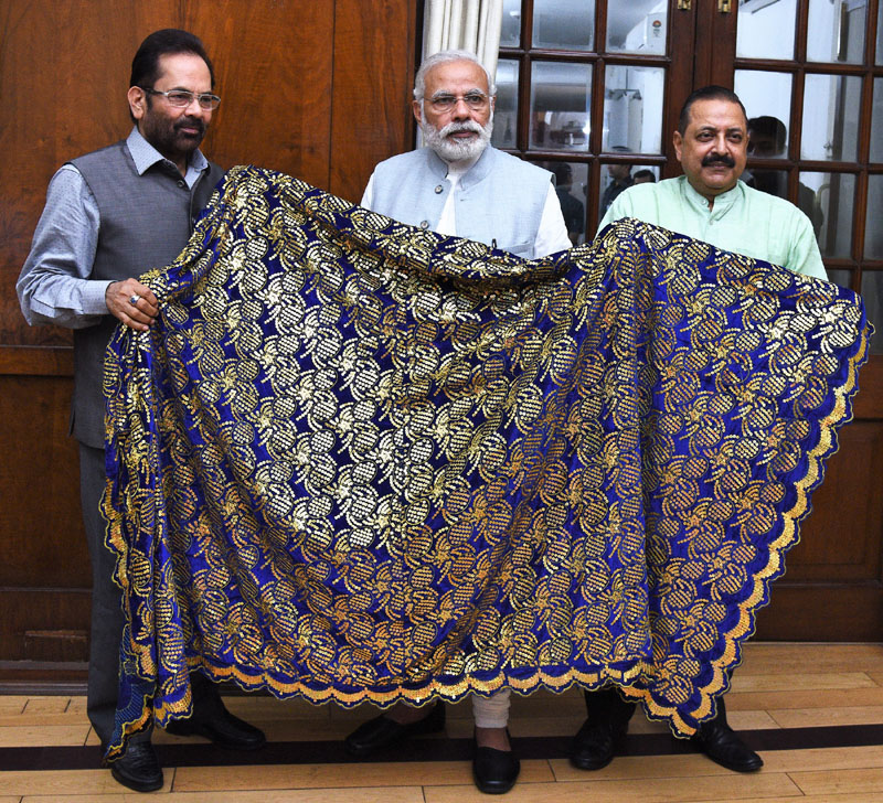 PM Modi hands over chaadar to be offered at Ajmer Dargah
