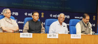 The Union Minister for Civil Aviation, Shri Ashok Gajapathi Raju Pusapati addressing a press conference on the award of the Regional Connectivity Flight routes after first round of bidding under RCS-Udan, in New Delhi on March 30, 2017. 