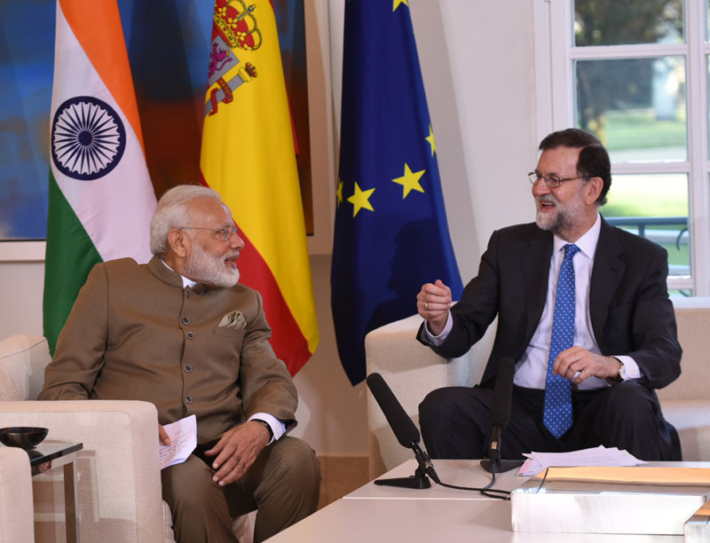 PM Modi meets Spanish King Felipe VI at The Palace of Zarzuela