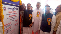 The Union Minister for Agriculture and Farmers Welfare, Shri Radha Mohan Singh inaugurating the building of Polytechnic in Animal Husbandry, at Kamdhenu University, Himmat Nagar, in Gujarat on May 28, 2017.