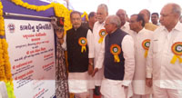 The Union Minister for Agriculture and Farmers Welfare, Shri Radha Mohan Singh inaugurating the Hostel Building of Polytechnic in Animal Husbandry, at Kamdhenu University, Himmat Nagar, in Gujarat on May 28, 2017.