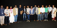 The Director Miransha Naik with the Cast and Crew of the Konkani movie, JUZE at the Presentation, during the 48th International Film Festival of India (IFFI-2017), in Panaji, Goa on November 23, 2017.