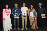 The Director Rajesh Mapuskar and cast & crew of the film VENDILATOR, at the presentation, during the 48th International Film Festival of India (IFFI-2017), in Panaji, Goa on November 23, 2017.