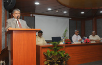 "The President, National Company Law Tribunal, Justice Shri M.M. Kumar delivering the 23rd lecture of the ""Lecture Series"", on ""Rule of Law: Achievements and its Trivialization"", organised by the Central Vigilance Commission (CVC), in New Delhi on September 21, 2017. 