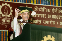 The Minister of State for Human Resource Development and Water Resources, River Development and Ganga Rejuvenation, Dr. Satya Pal Singh addressing at 23rd Convocation of the National Institute of Industrial Engineering (NITIE), in Mumbai on September 23, 2017.