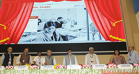 """The Union Minister for Rural Development, Panchayati Raj and Mines, Shri Narendra Singh Tomar at the celebrations of """"Bharat ke Kaushalzaade"""", on the eve of 'Antyodaya Diwas', in New Delhi on September 24, 2017. The Minister of State for Rural Development, Shri Ram Kripal Yadav, the Secretary, Ministry of Rural Development, Shri Amarjeet Sinha and other dignitaries are also seen."""
