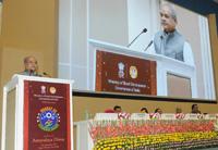 "The Union Minister for Rural Development, Panchayati Raj and Mines, Shri Narendra Singh Tomar addressing at the celebrations of ""Bharat ke Kaushalzaade"", on the eve of 'Antyodaya Diwas', in New Delhi on September 24, 2017."