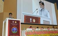 "The Minister of State for Rural Development, Shri Ram Kripal Yadav addressing at the celebrations of ""Bharat ke Kaushalzaade"", on the eve of 'Antyodaya Diwas', in New Delhi on September 24, 2017."